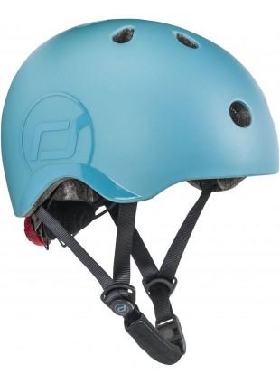 Scoot & Ride Kinder-Fahrradhelm S-M Steel
