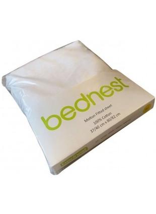 Bednest Spannbettlaken für Beistellbett Molton Weiß