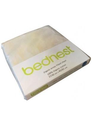 Bednest Spannbettlaken für Beistellbett Bio-Jersey Creme