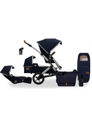 Joolz Geo Earth Parrot Blue Duo Geschwisterwagen Set M