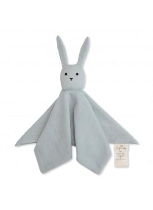 Konges Sløjd Schmusetuch Sleepy Rabbit Blue Fog
