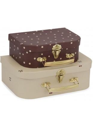 Konges Sløjd Kinder-Koffer Set Cherry - Dot
