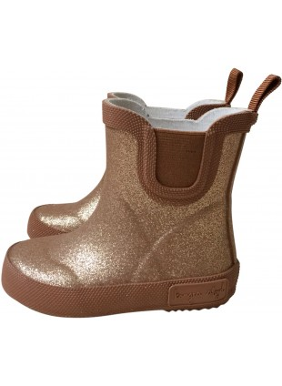 Konges Sløjd Kinder Gummistiefel Welly Glitter Tan