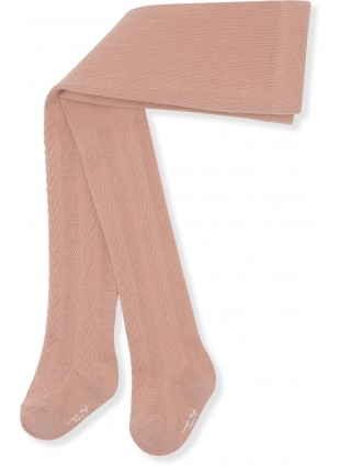 Konges Sløjd Baby-Strumpfhose Pointelle Rose Blush