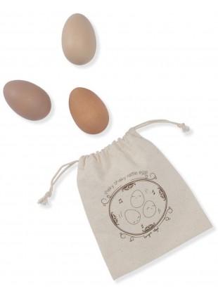 Konges Sløjd Holz-Spielzeug Rassel-Eier Rosa