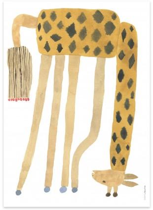 OYOY Poster Giraffe Noah Upside Down