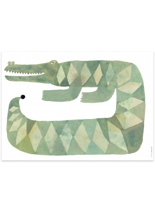 OYOY Poster Krokodil Gustav kaufen - Kleine Fabriek