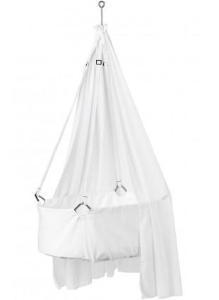 Leander Babywiege Set S mit Himmel Weiß - Kleine Fabriek