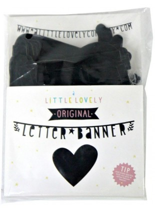 A Little Lovely Company Letter Banner Buchstaben-Girlande DIY Black