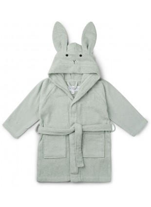 Liewood Bademantel Lily Hase Dusty Mint 1-2 Jahre - Kleine Fabriek