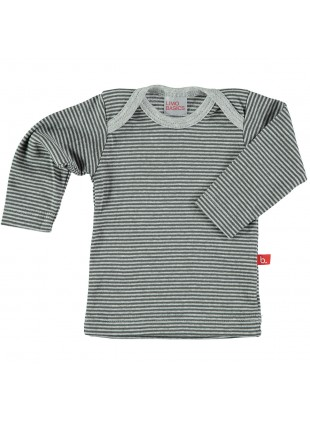 limobasics Langarm Baby-Shirt 62/68 Grey Stripes - Kleine Fabriek