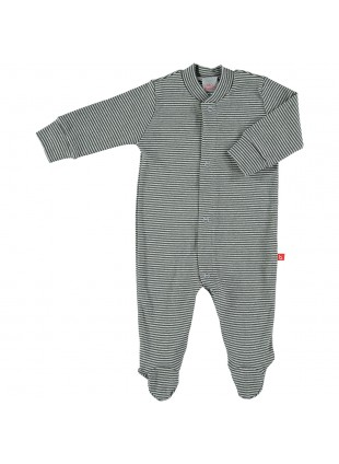 limobasics Baby-Pyjama Grey Stripes - Kleine Fabriek