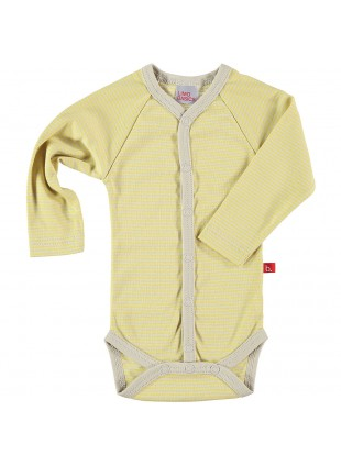 limobasics Langarm Baby-Body Japan Yellow Stripes - Kleine Fabriek