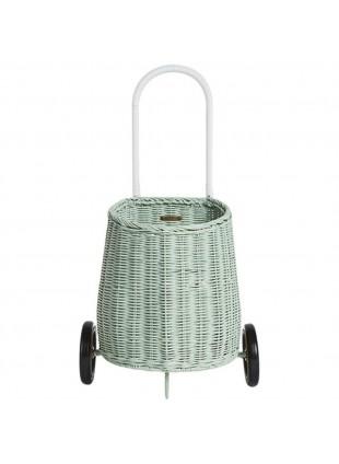 Kinder Korb-Einkaufstrolley Mint von Olli Ella kaufen - Kleine Fabriek