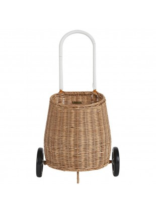 Kinder Korb-Einkaufstrolley Natur von Olli Ella kaufen - Kleine Fabriek