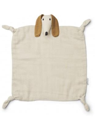 Liewood Baby-Schmusetuch Agnete Dog Sandy