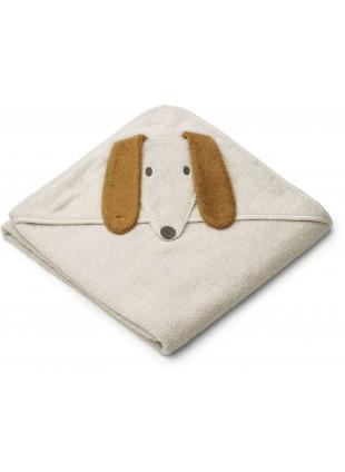 Liewood Kapuzenbadetuch Augusta Dog Sandy