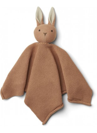 Liewood Baby Strick-Schmusetuch Milo Hase Tuscany Rose