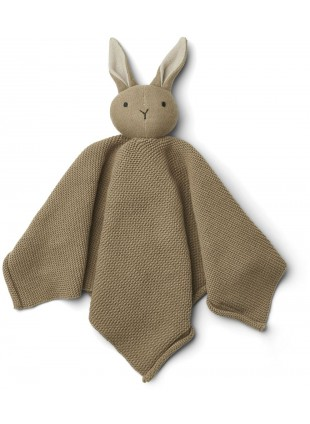 Liewood Baby Strick-Schmusetuch Milo Hase Oat