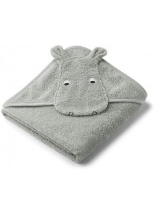 Liewood Baby Kapuzenbadetuch Hippo Dove Blue kaufen - Kleine Fabriek