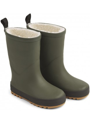 Liewood Kinder Thermo-Gummistiefel Mason Hunter Green - Black Mix