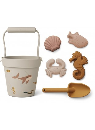 Liewood Silikon Sandspielzeug-Set Dante Sea Creature Rose Multi Mix