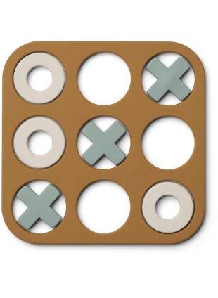 Liewood Spiel Tic Tac Toe Kelsey Golden Caramel Multi Mix