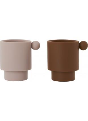 OYOY Silikon Becher Set Tiny Inka Caramel - Rose kaufen - Kleine Fabriek - Kleine Fabriek