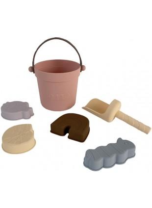 OYOY Silikon Sandspielzeug-Set Leo Coral