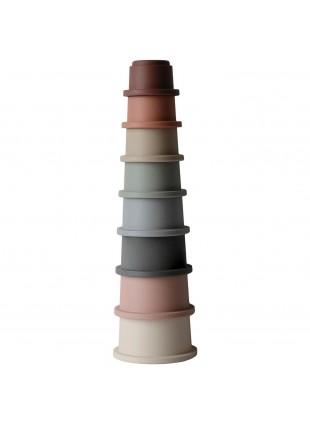 Mushie Stapelturm Pastell kaufen - Kleine Fabriek