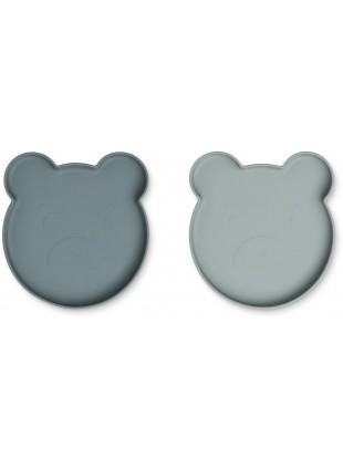 Liewood Silikon Teller-Set Marty Mr. Bear Blue Mix
