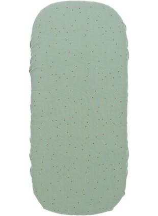 Nobodinoz Spannbettlaken für Wiege 40x80 cm Melody Toffee Sweet Dots - Eden Green