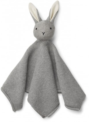 Liewood Baby Strick-Schmusetuch Milo Hase Dumbo Grey
