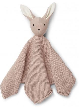 Liewood Baby Strick-Schmusetuch Milo Hase Rose - Kleine Fabriek