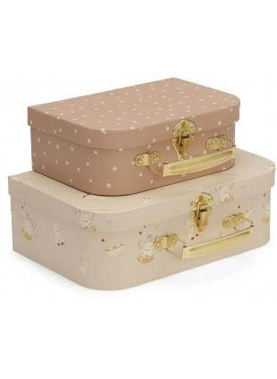 Konges Sløjd Kinder-Koffer Set Sand Dollar - Miso Moonlight