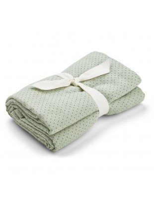 Liewood Swaddle Wickeltuch XL Molly Little Dot Dusty Mint - Kleine Fabriek