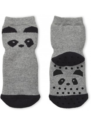 Liewood Anti-Rutsch-Socken Nellie Panda Grey Melange - Kleine Fabriek