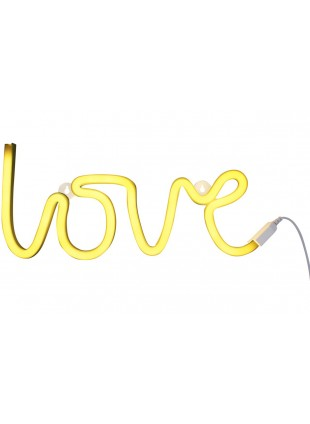 A Little Lovely Company Lampe Neon Style Light Love Gelb