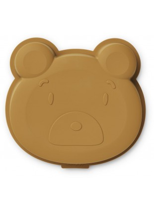 Liewood Silikon Kuchenform Amory Mr. Bear Golden Caramel