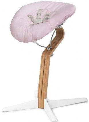Nomi Hochstuhl Baby Aufsatz Set Weiß / Pale Pink