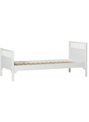 Oliver Furniture Einzelbett Seaside 90x200 cm Weiß