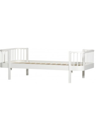 Oliver Furniture Einzelbett Wood 90x200 cm Weiß / Weiß