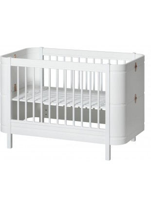 Oliver Furniture Babybett / Umbaubett Wood Mini+ Weiß/Weiß