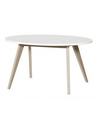 Oliver Furniture Kinder-Tisch Wood Ping Pong Weiß/Eiche - Kleine Fabriek