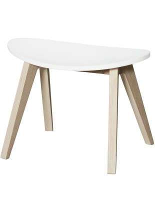 Oliver Furniture Kinder-Hocker Wood Ping Pong Weiß/Eiche - Kleine Fabriek