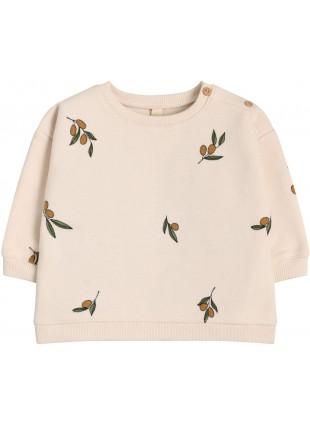 Organic Zoo Baby-Sweatshirt Olive Garden