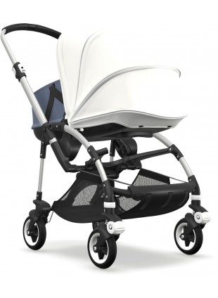 Bugaboo Bee 5 Kinderwagen mit Liegewanne Mix & Match Silber/Fresh White - Kleine Fabriek