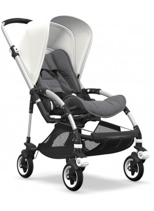 Bugaboo Bee 5 Kinderwagen mit Sportsitz Mix & Match Silber/Fresh White - Kleine Fabriek