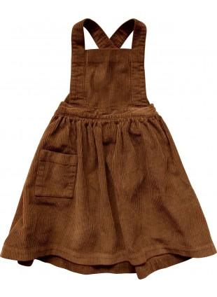 The Simple Folk Cord-Kleid Pinafore Rust