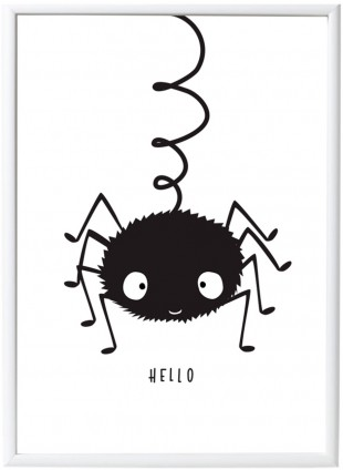 A Little Lovely Company Poster Spinne